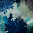 A100f-Shades of Blue Flowers, Textural
