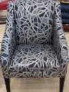 LC03-Chair, Midnight Blue Swirls