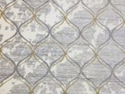 AR03-Area rug, Grey & Gold Trellis 7×10
