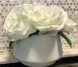 PL01-Roses, faux terrazzo pot