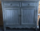 OTC21-Cabinet, Silver Finish, Slim