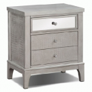 BS03-Glam, Silver Finish, Mirror Drawer