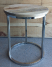 OT16-Side Table, Rnd Natural Wood Top