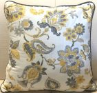 TC87a-Grey & White Floral Toss Cushion