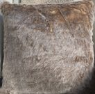 TC003-Faux Fur, Blush Brown Toss Cushion