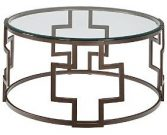 OT57-Round, Bronze Geometric Base