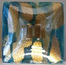 Bowl/Platter, Teal & Gold – Acc152