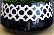 Vase, Black & White, Trellis Bowl-Acc142