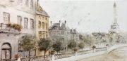 A107-Scène de rue à Paris, canvas
