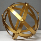 Decorative Sphere, Brushed Gold, Sm-Acc150