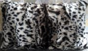 TC63-Faux Leopard, Lumbar Toss Cushion