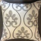 TC29b-White w/grey embroidered pattern