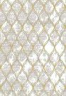 AR03a-Gold & Grey Trellis, 5 x 8