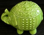 Decorative Elephant, Indian Green-Acc112