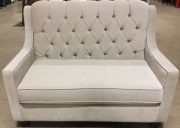 SF12b-Loveseat, Ivory, Tufted w/piping
