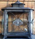 Lantern, Antiqued Metal & Glass-Acc102