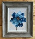 A108-Set of 2, Blue Flowers, Reclaimed