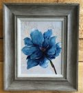 A108a-Blue Flower, Reclaimed Frame, 2of2