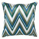 TC100-Green & Teal Modern Chevron