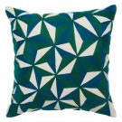 TC100a-Teal & Green Geometric Pattern