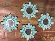 M35c-Tiffany Blue, Set of 4 mini mirrors
