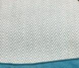 TH20a-Teal & White Chevron w/fringe