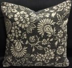 TC41-Dark Grey & Ecru, Floral Pattern