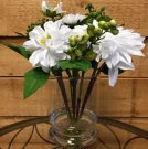 PL50a-Spring Bouquet in gel, glass vase