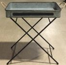 OT13b-Industrial Tray Table w/rope handles