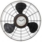 A991-Black Metal Industrial Fan/Clock