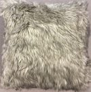 TC63b-Grey Deluxe, Faux Fur Toss Cushion