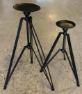 Candle Stands, Black Metal Tripod-Acc9903
