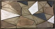 A49a-Metal & Wood Abstract Wall Hanging