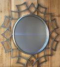 M10-Silver Leaf Geometric Frame