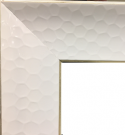 M20-White Framed Mirror w/honeycomb design