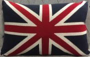 TC78-Union Jack, Red & Navy Toss Cushion