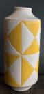 Vase, Yellow & White Diamond Pattern-Acc9960