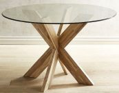 DT03a-Dining Table, X-base Java Finish