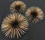 Decorative Porcupine Orbs, 3pc-Acc1006