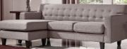SF07b-Reversible Sectional, Brown/Grey