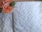 Bathroom, Towel Set 4pc White Scroll-Acc509