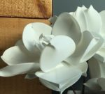 PLS06-White Floral Stem, Pliable Petals