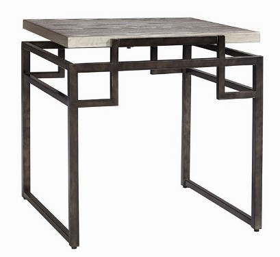 Ot52c silver wood finish metal base the rental dept Model home furniture rental
