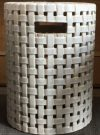 OB20-Ceramic Stool, Woven Look, Beige