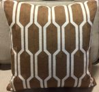 TC94b-Brown & White, Honeycomb Pattern