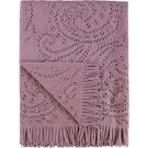 TH32-Mauve Throw, Paisley Cut-out pattern