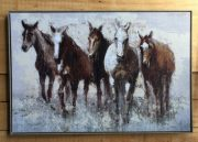 A119b-Team of Five Horses, Framed