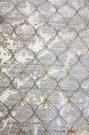 AR03b-Area rug, Grey & Gold Trellis 8×11