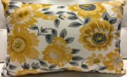 TC87b-Gold & Grey Floral Lumbar
