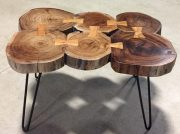OT29aa-Wood Disc coffee table, pin legs